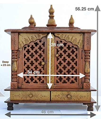 Lovely Wooden Temple/ Home Temple/ Pooja Mandir/ Pooja Mandap/ Temple For Home  JORD703