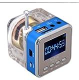 Andoer Mini Portable Digital Musique MP3 / 4 Player Micro SD / TF USB Radio FM Disk Haut-parleurs pour un usage domestique et l'utilisation de Voyage (bleu)