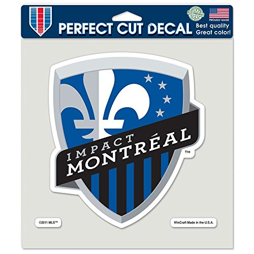 "WinCraft Soccer Impact Montreal Perfect Cut Color Decal, 8"" x 8"""