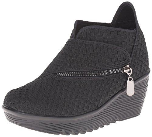 Bernie Mev Women's Zig Zag Ankle Bootie, Black, 39 EU = 8.5-9 M US