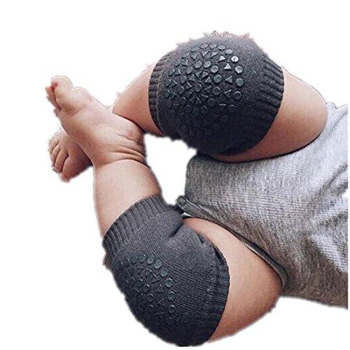 Voberry® Baby Crawling Anti-Slip Knee Compression Sleeve Unisex Kneecap (Dark Gray)