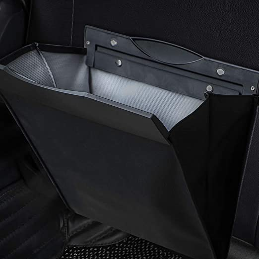 de piel sint/ética plegable reutilizable bolsa de basura para interior de coche elegante Bolsas de basura para coche resistente al agua para oficina o inodoro