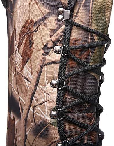 Mens Bottes de Neige Botte d'hiver, Poids léger imperméable Haute Recouvrir Fourrure Doublé Cuir Bottes d'extérieur Chaussures de randonnée,40