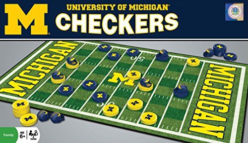 NCAA Michigan Checkers by MasterPieces ()