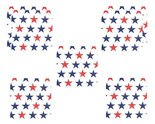 Bulk 4th of July Patriotic Stars Red White and Blue Beverage Napkins for 72 - Napkins Blue Guest