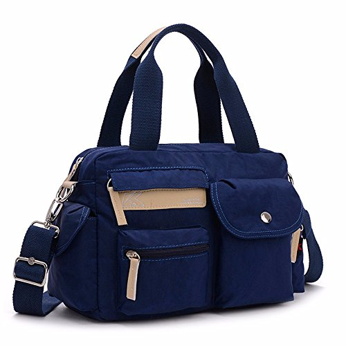 De Cloth Hombro Bolso Marino Mano Bag Lady Azul Nylon Oxford Lienzo Leisure azul pRgfqw55