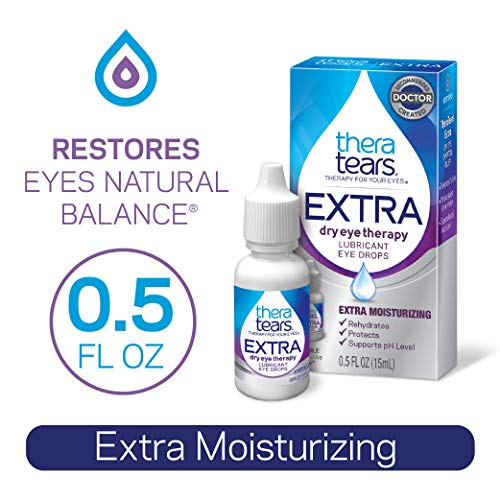 TheraTears Eye Drops for Dry Eyes, Extra Dry Eye Therapy, Extra Moisturizing Lubricant Eye Drops, 15 mL, 0.5 Fl oz