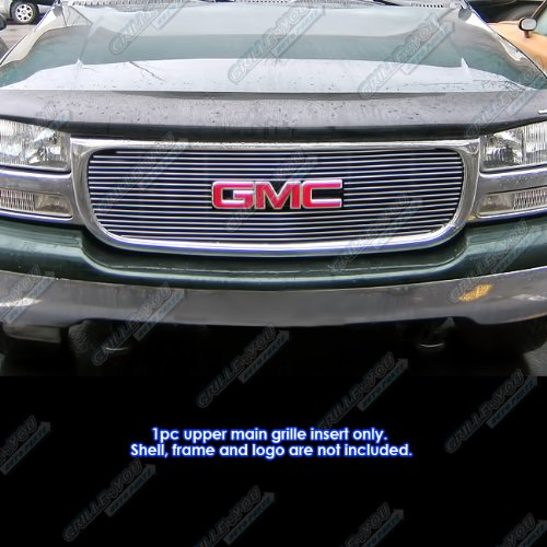 Gmc Sierra Denali Grille Insert (APS G65703A Polished Aluminum Billet Grille Bolt Over for select GMC Sierra 1500 Models)