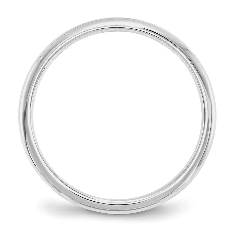 14K White Gold 2mm Standard Comfort Fit Band Ring