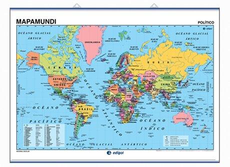 Descargar Libro Mapamundi, Físico / Político: Mapas Murales Edigol Ediciones