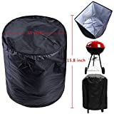 eyesonme BBQ Grill Cover For Weber Smokey Joe Silver Serving Outdoor Indoor Round 14'-15'