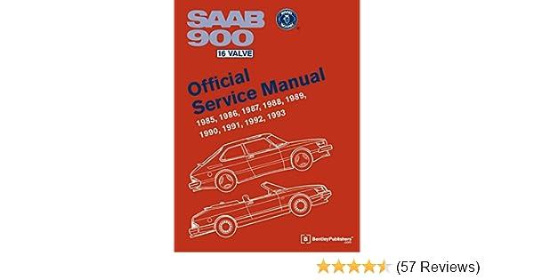 saab 900 16 valve official service manual 1985 1986 1987 1988 rh amazon com 30s Old Saab Black Saab 9-3 Wagon