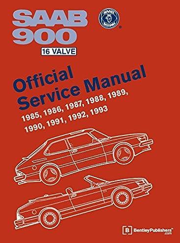 saab 900 16 valve official service manual 1985 1986 1987 1988 rh amazon com Saab 900 SPG Saab 900 SPG