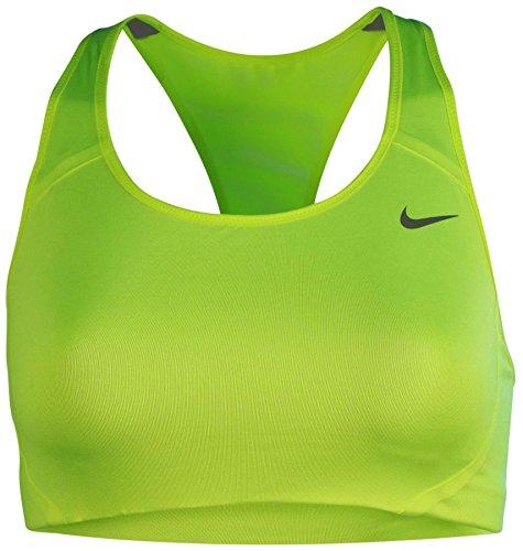 Nike Women's Dri-Fit Victory Shape High Support Sports Bra-Volt-Large