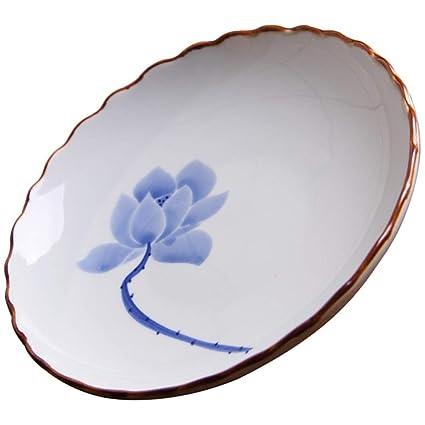 Happiness Tableware LIXUE Plato de Cena Irregular japonés de ...