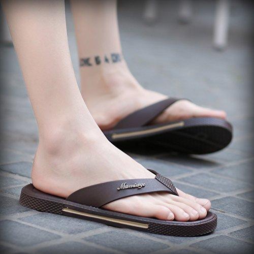 de los playa antideslizantes brown de zapatos los flip del hombres de flop hombres baño de pies zapatillas planas los talón de zapatillas y wCqax6YZ