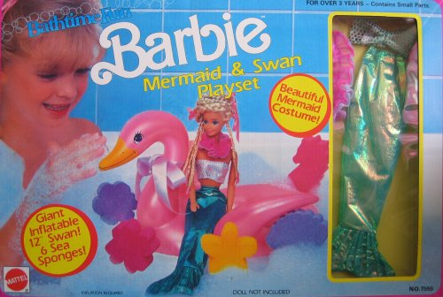 Barbie Fancy Dress Costumes For Adults (Bath time fun Barbie Mermaid and Swan Playset)