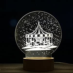 Night Stand Lights, SWPS Christmas Tree 3D Lights for Xmas Party (Carousel A)