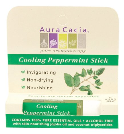 Aura Cacia Cooling Peppermint Aromatherapy Stick, 0.29 Ounce - 6 per case.