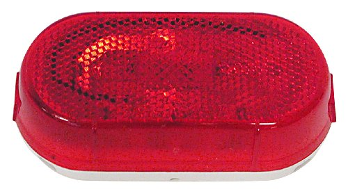 Peterson Manufacturing 108WR Red Clearance/Side Marker Light with Reflex Reflector
