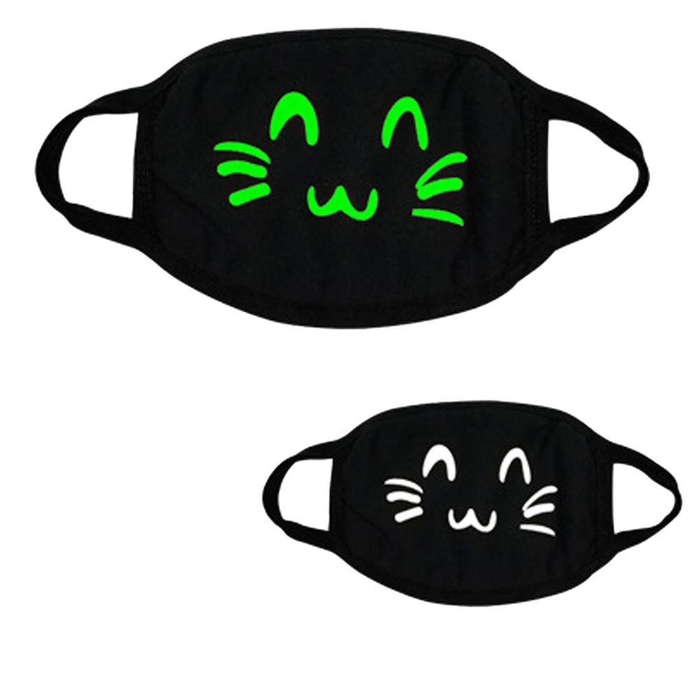 Gessppo Mouth Mask Black Festival Party Respirator Luminous Ghost Skull Half Face Scary Horror Breathing Mask … (C)