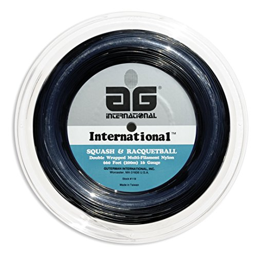 AG International Nylon Squash and Racquetball String Reel-Black