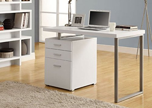 Monarch Specialties Hollow-Core Left or Right Facing Desk, 48-Inch Length, White