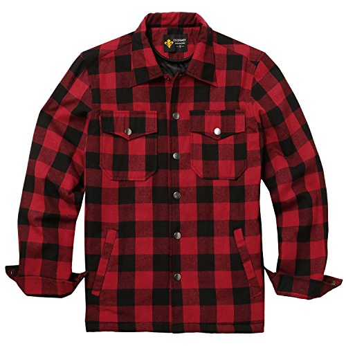 Quilted Plaid Flannel Work Shirt - 5