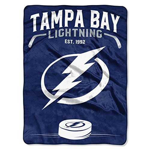 The Northwest Company Officially Licensed NHL Tampa Bay Lightning Inspired Plush Raschel Throw Blanket, 60