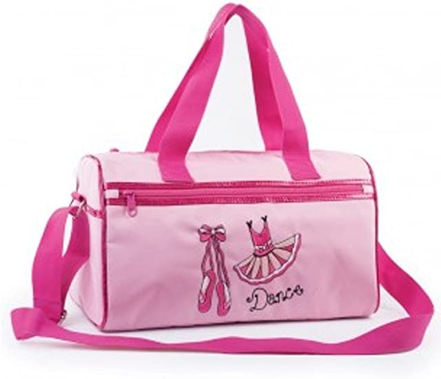 PINK OR LILAC DANCE HOLDALL WITH DANCE SACK MOTIF IN