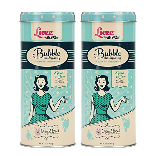 Luxe by Mr. Bubble, Powdered Bubble Bath, Sweet & Clean Scent, 15 oz, Pack of 2