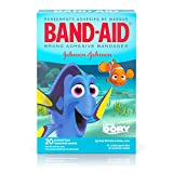 Band-Aid Brand Adhesive Bandages for Minor Cuts and Scrapes, Featuring Disney/Pixar Finding Dory Characters for Kids, Assorted Sizes 20 ct