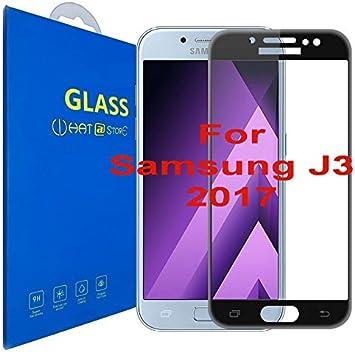 Samsung Galaxy J3 (2017) - Curvo 3D Cristal Templado Protector de Pantalla, 3D completo borde curvado [ borde