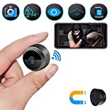 Spy Camera Wireless Hidden Camera, ZOHULU Latest Full HD 1080P WiFi Nanny Camera with 150 Wide Angle, Portable Mini Security Camera Espias with Magnet/Motion Activated for Home Security Monitoring