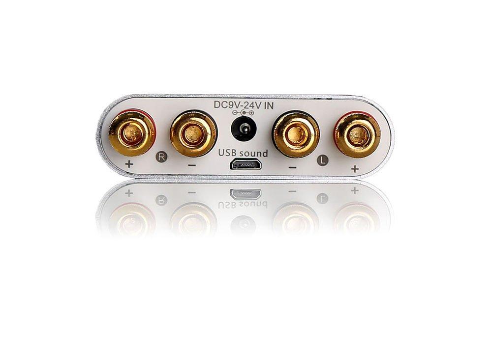 nobsound NS de 10g Mini Bluetooth 4.0 Digital Amplificador; 100 W HiFi Amp con fuente de alimentación (Plata): Amazon.es: Electrónica