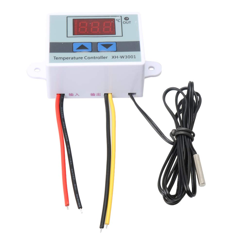 BQLZR 12V 120W XH-3001 controlador de temperatura LED digital con interruptor de control de termostato con sonda impermeable