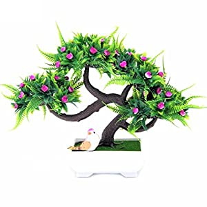 1pc christmas tree Sakura Emulate Bonsai Artificial Flower rose dragon Ornaments 10