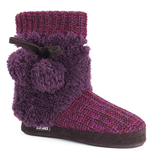 MUK LUKS Delanie Slipper Women's Slipper Medium US Raspberry