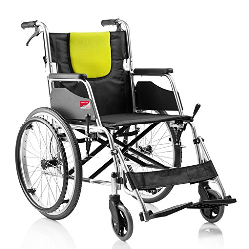 Aluminum Alloy Wheelchair, Elderly Lightweight Wheelchair, Folding Manual Wheelchair, Free of (Folding Portable Wheelchair Scale)