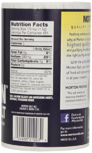 Morton Iodized Salt, 26-Ounce (Pack of 24) by Morton (Image #3)