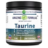 Amazing Nutrition Amazing Formulas Taurine – 1 kg (2.20 lbs) – 5000 mg Taurine Per Serving – Approx. 200 servings – Potent Antioxidant – Supports Eye Health, Healthy Cellular Activity & Cardiovascular