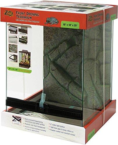 Zilla Front Opening Terrarium Black 18 x 18 x 25in