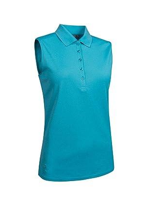 1d3cb68c Amazon.com: Glenmuir Ladies LSP2557 Performance Pique Sleeveless Polo Shirt:  Clothing