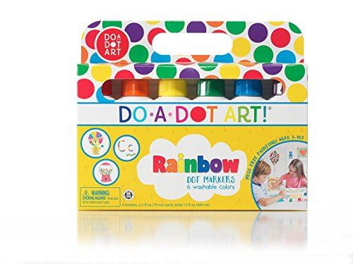 Do A Dot Art! Markers 6-Pack Rainbow Washable Paint Markers, The Original Dot Marker (Home Easter Depot Basket)