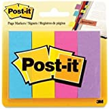 """Post-it - Post-it Page Markers,1""""x3"""",200 Strips,4/PK,AST Ultra Colors, Sold as 1 Package, MMM 6714AU"""
