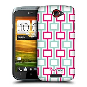 Head Case Designs Geometric Mod Patterns Protective Snap-on Hard Back Case Cover for HTC One S by ruishername