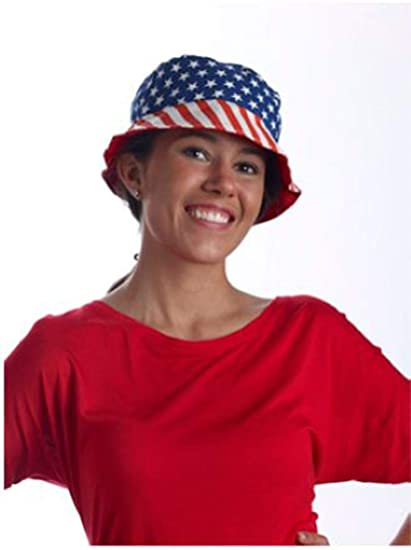 1ff6261269938 Image Unavailable. Image not available for. Color  Forum Novelties  Patriotic Canvas American Bucket Hat