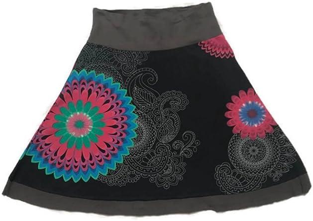 Jupe Style Desigual Colore Noir 38 Amazon Fr Vetements Et Accessoires