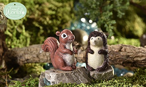 Giftcraft Mini World Glow-in-the-Dark Squirrel and Hedgeh...