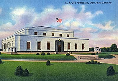 Fort Knox, Kentucky - Exterior View of the US Gold Depository (9x12 Collectible Art Print, Wall Decor Travel Poster)
